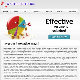 HYIP fx-autoprofit screenshot home page