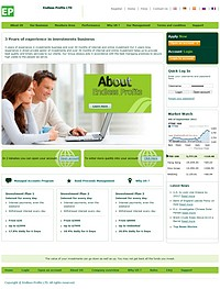 HYIP endlessprofits screenshot home page