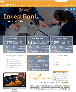 HYIP invest-bank screenshot home page