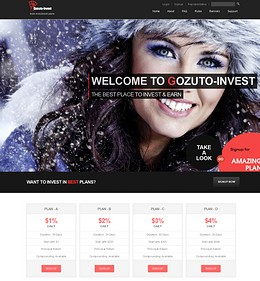 HYIP gozuto-invest screenshot home page