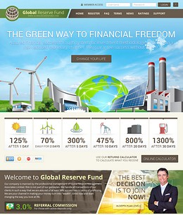 HYIP globalreservefund screenshot home page