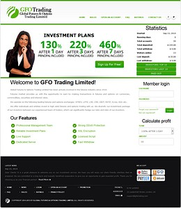 HYIP gfotrading screenshot home page