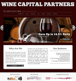 HYIP winecp screenshot home page
