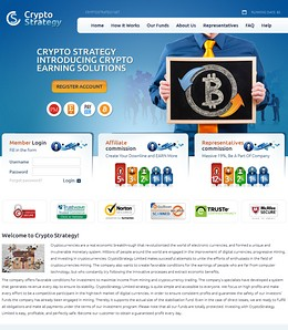 HYIP cryptostrategy screenshot home page