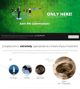 HYIP jrccapital screenshot home page