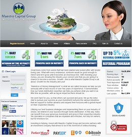 HYIP maestrocapitalgroup screenshot home page