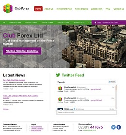 HYIP clubforex screenshot home page