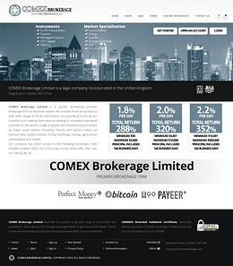 HYIP comexbrokerage screenshot home page