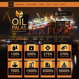 HYIP oilpalas screenshot home page