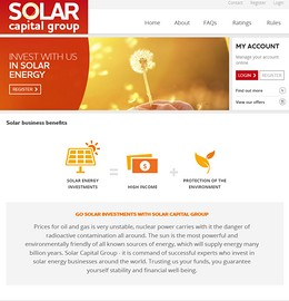 HYIP solarcapital screenshot home page