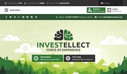 HYIP investellect.net screenshot home page