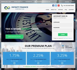 HYIP infinityfinancecorp screenshot home page