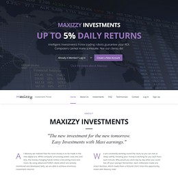 HYIP maxizzy screenshot home page