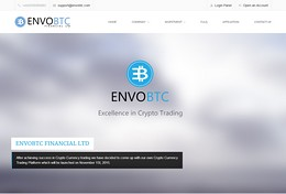 HYIP envobtc screenshot home page