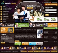 HYIP perfect-liberty screenshot home page