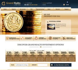 HYIP grand-rialto screenshot home page