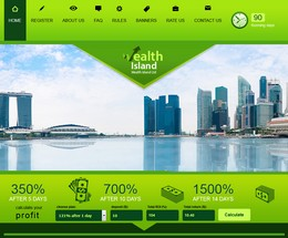 HYIP wealthisland screenshot home page