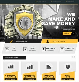 HYIP savemoney screenshot home page