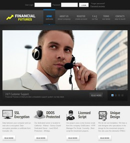 HYIP financial-futures.biz screenshot home page