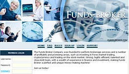 HYIP funds-broker.com screenshot home page