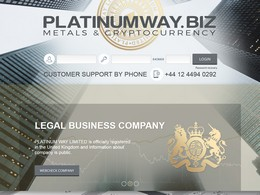 HYIP platinumway.biz screenshot home page