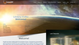 HYIP lovejoy.vodka screenshot home page
