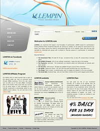 HYIP lempin screenshot home page