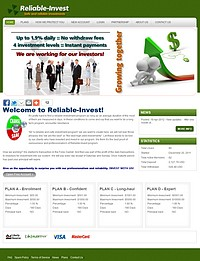 HYIP reliable-invest screenshot home page