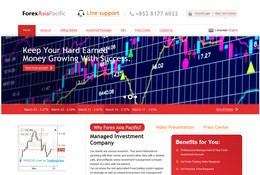 HYIP forexasiapacific.com screenshot home page