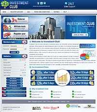 HYIP investmentclub screenshot home page
