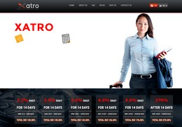 HYIP xatro-limited.com screenshot home page