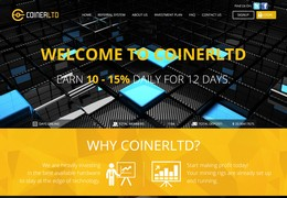 HYIP coinerltd.com screenshot home page