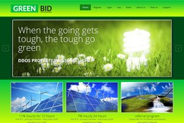 HYIP greenbid.cc screenshot home page