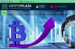 HYIP crypto-plaza.biz screenshot home page
