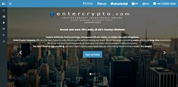 HYIP entercrypto.com screenshot home page
