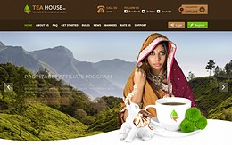 HYIP tea-house.biz screenshot home page