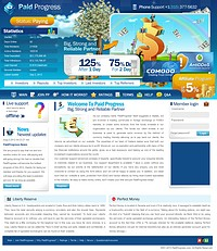 HYIP paidprogress screenshot home page