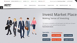 HYIP investmarketplace.com screenshot home page