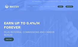 HYIP investify.io screenshot home page
