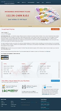 HYIP fxcminvest screenshot home page