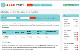 HYIP jade-valley.com screenshot home page