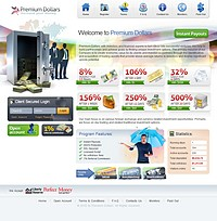 HYIP premium-dollars screenshot home page