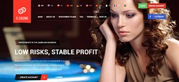 HYIP 5casino.cc screenshot home page