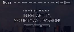 HYIP roly-investment.org screenshot home page