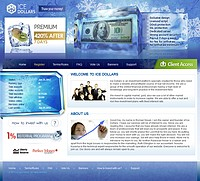 HYIP ice-dollars screenshot home page