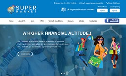 HYIP super-market.biz screenshot home page