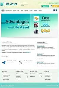 HYIP liteasset screenshot home page