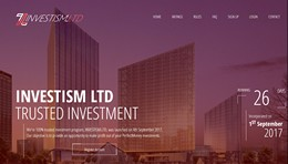 HYIP investism.ltd screenshot home page