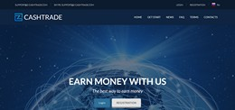 HYIP z-cashtrade.com screenshot home page