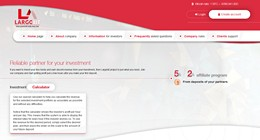 HYIP largobit.biz screenshot home page